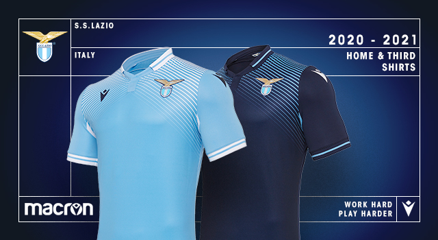 Ss Lazio 2020 21 Macron Home Away Third Football Kits Superfanatix Com