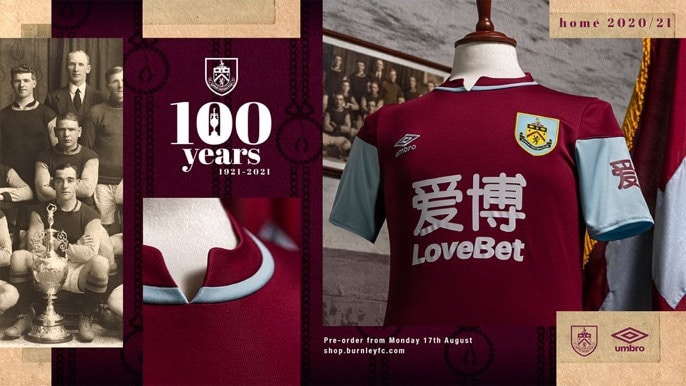 Burnley FC Umbro Home Kit 2020-21
