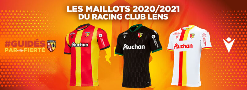 Rc Lens 2020 21 Macron Home Away Third Football Kits Superfanatix Com